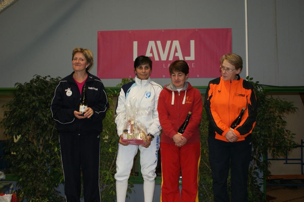 CN Laval 2013 - Podium Epée Dames Vétérans 1