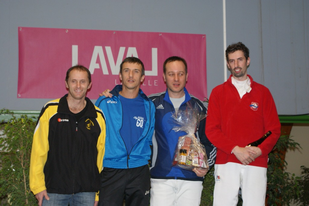 CN Laval 2013 - Podium Epée Hommes Vétérans 1